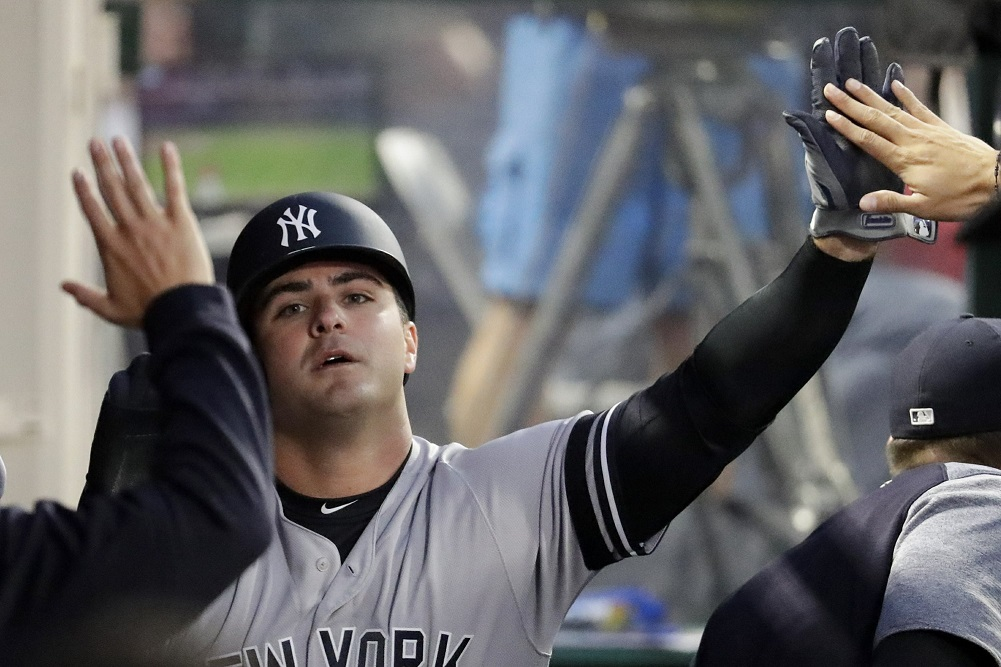 Voit homers twice to lead Yankees over Angels