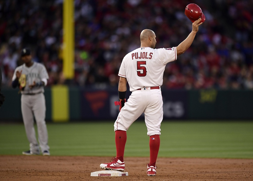 Pujols passes Ruth on RBI list, but Mariners beat Angels