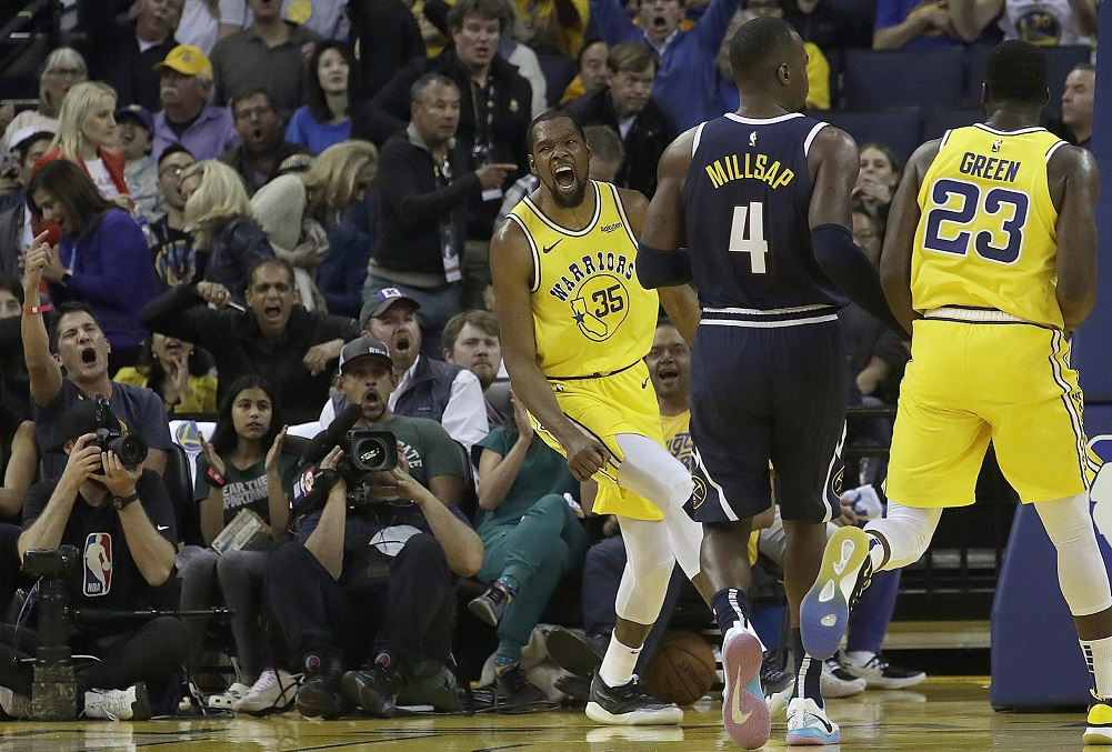 Warriors beat Nuggets, increase lead for top seed in West