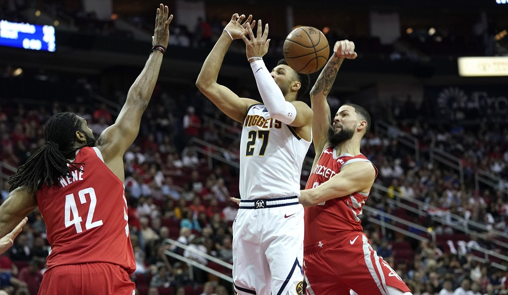 Harden's 38 helps Rockets cruise past Nuggets