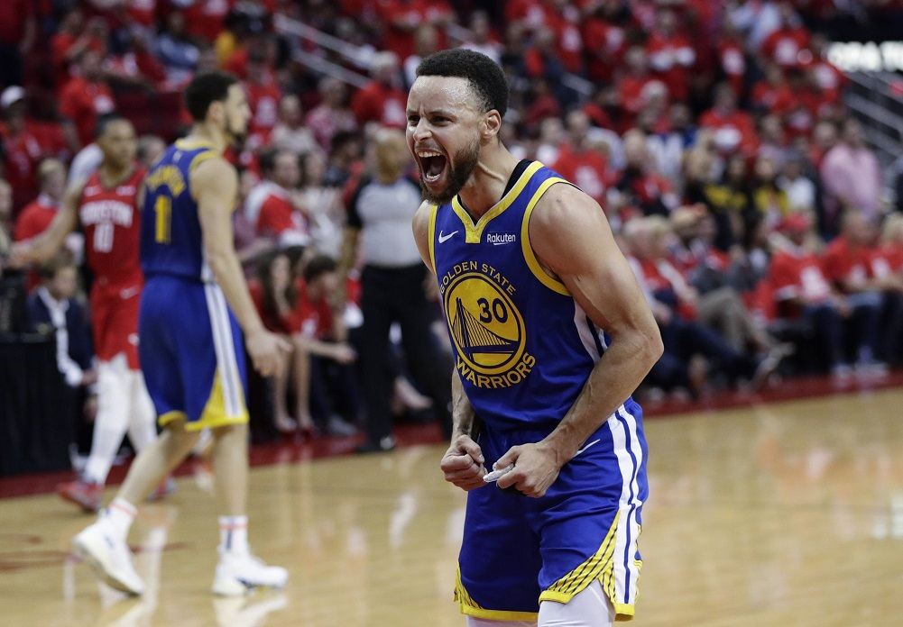 Curry, short-handed Warriors knock out Rockets in Game 6