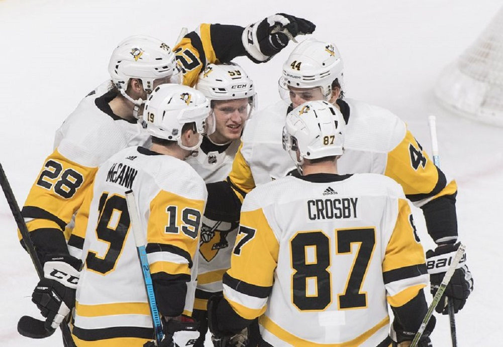 Guentzel, Crosby power Penguins past Canadiens