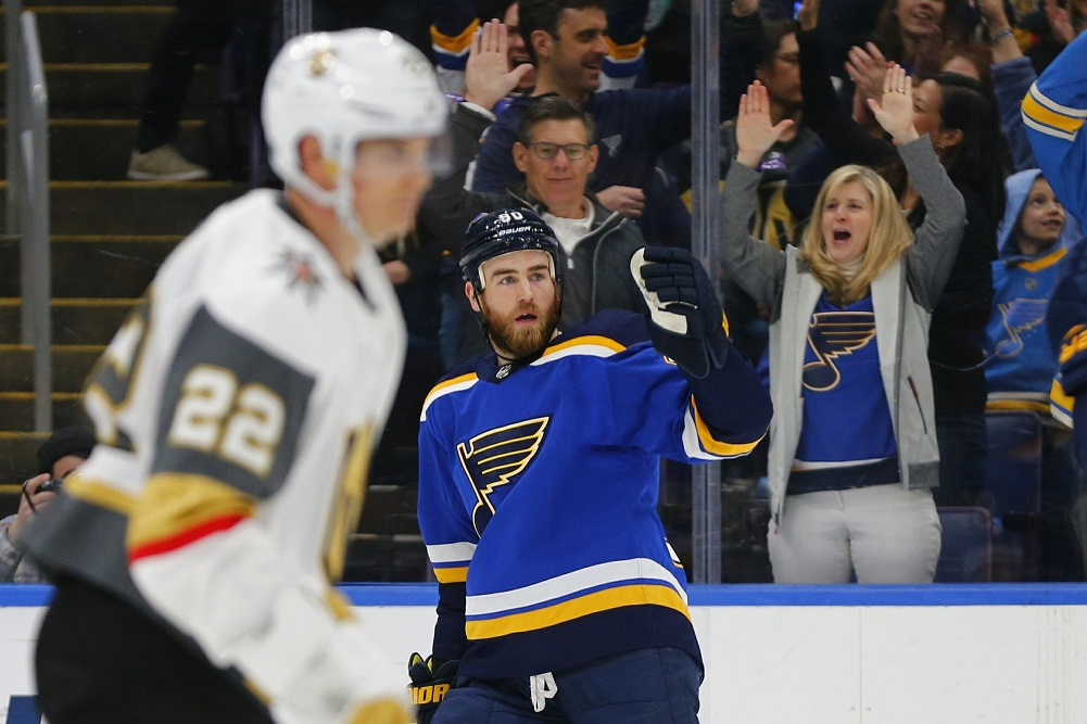 Blues beat Golden Knights to close in on playoff spot