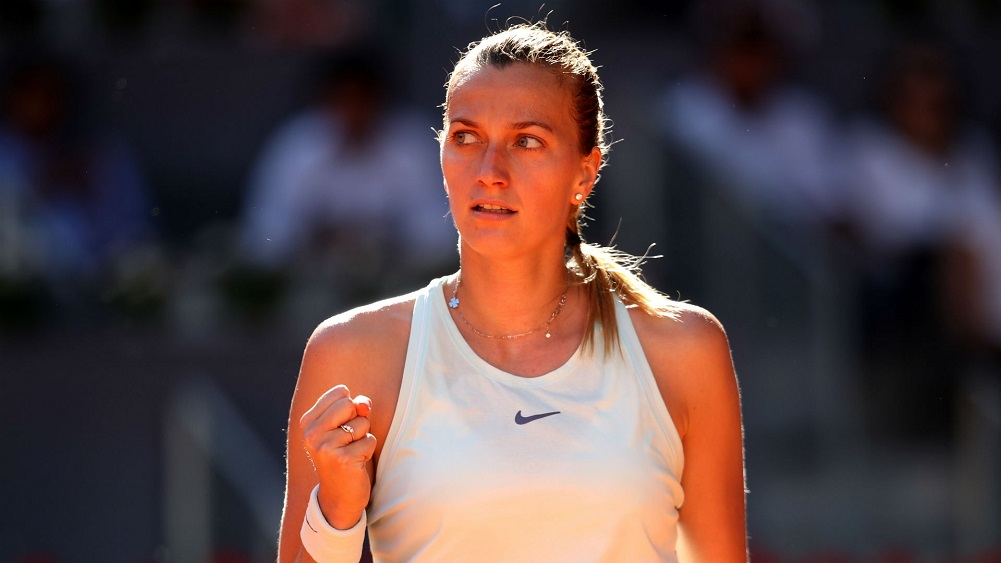 Defending champ Kvitova into 3rd round in Madrid