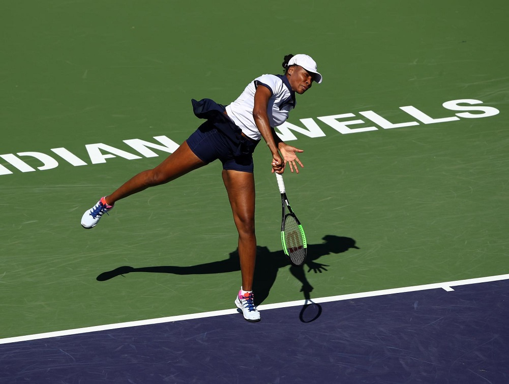Venus wins 1st-round match at Indian Wells