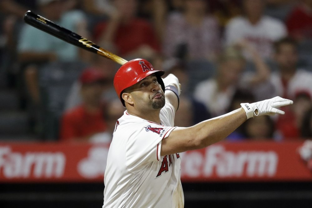Pujols, Trout help Angels rally for win over Red Sox