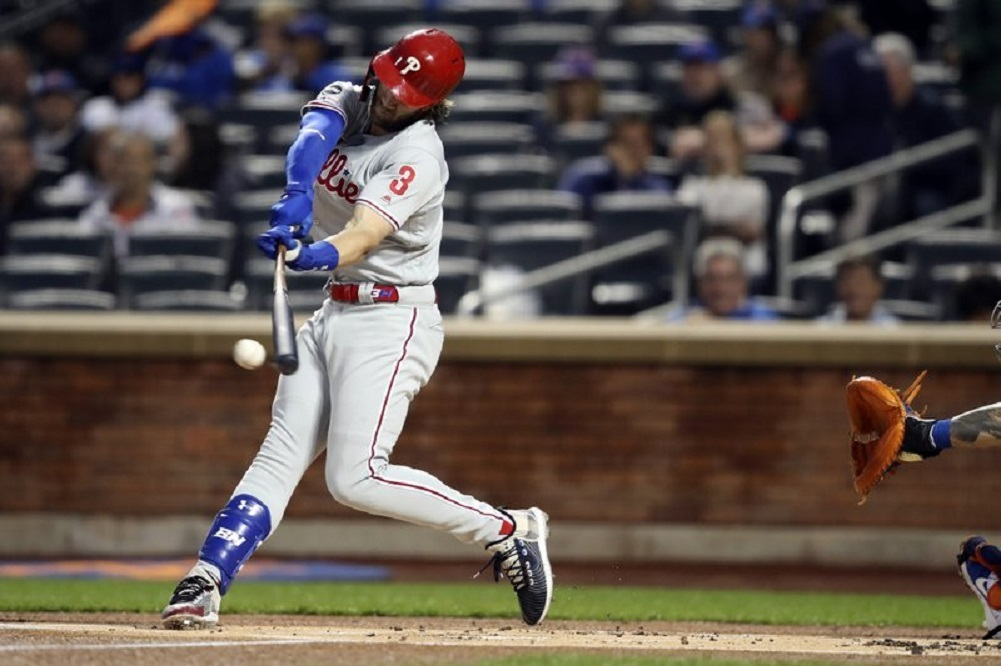 Phillies star Harper again out of lineup with injured hand
