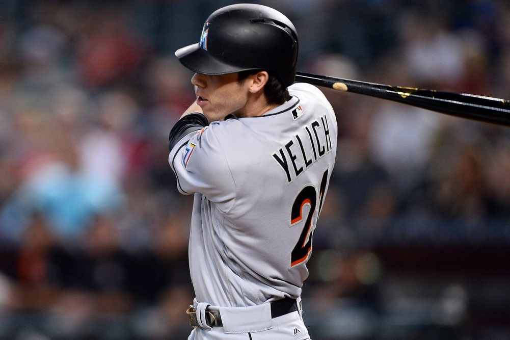 Yelich out of lineup again with back spasms