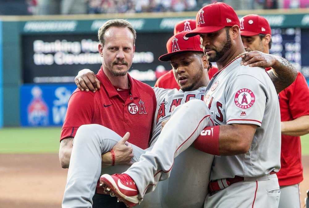 Angels RHP Peña goes on injured list with torn ACL
