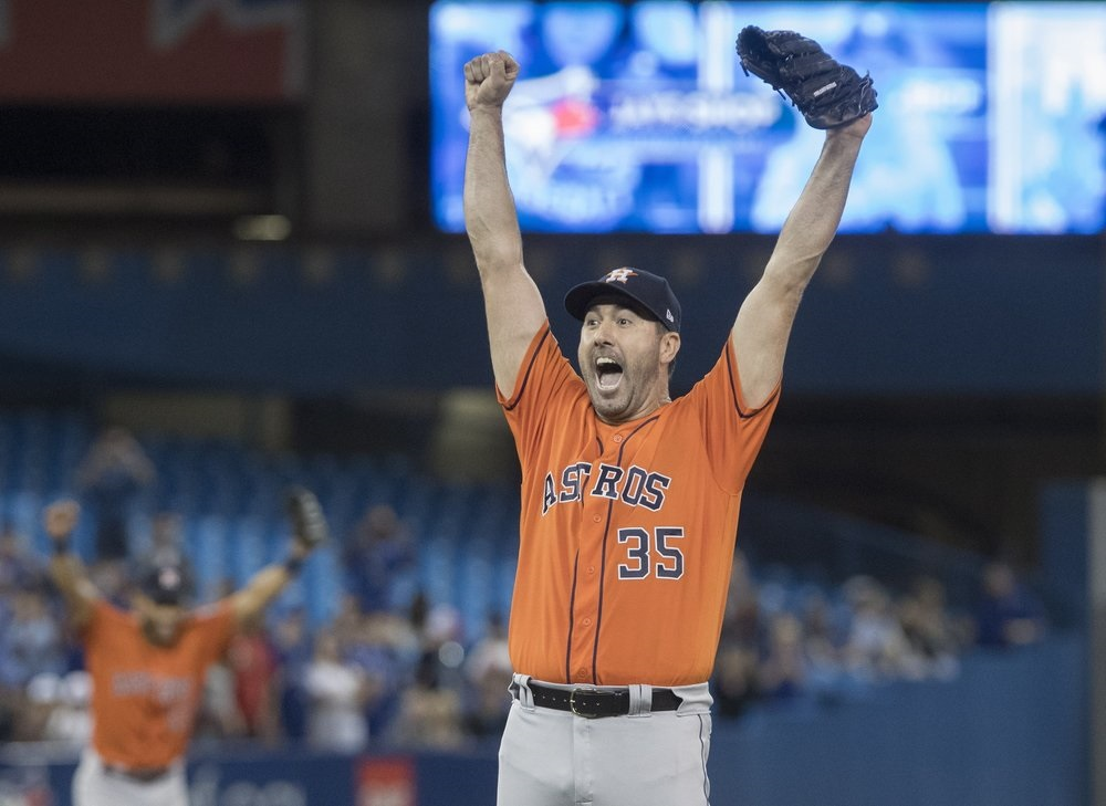 Verlander pitches 3rd career no-hitter, Astros beat Jays