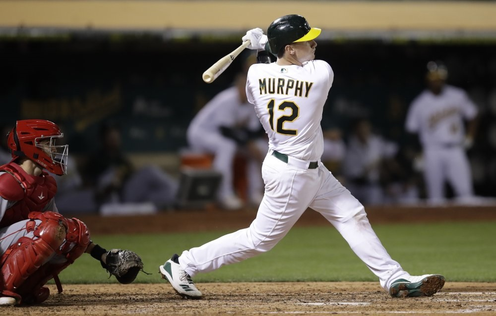 Murphy homers for 1st hit in MLB debut, A's blank Angels