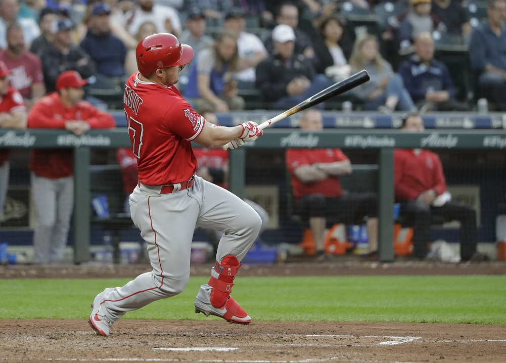 Trout, Angels batter Kikuchi in win over Mariners