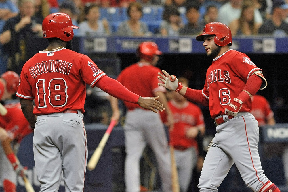 Morton's streak ends as Angels beat Rays