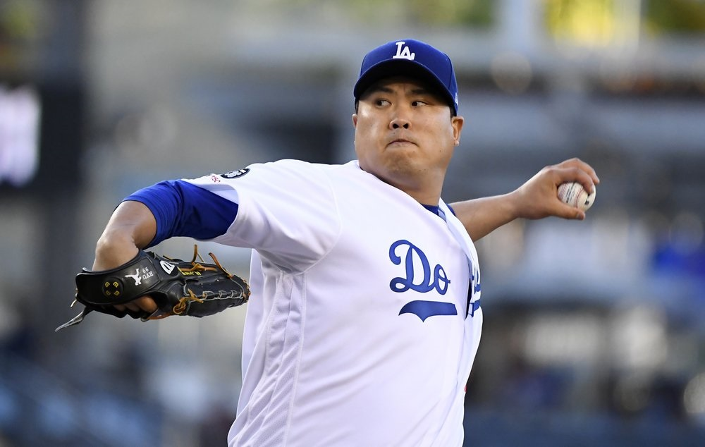 Ryu strong again as Dodgers get past Marlins
