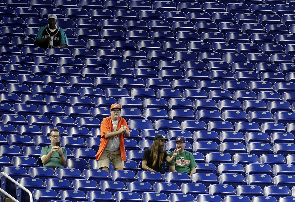 MLB attendance down another 1.4%, 4th straight drop