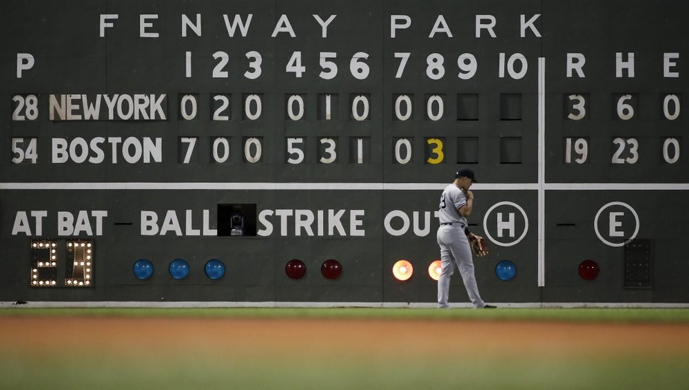 Red Sox pound Yankees, biggest win ever in rivalry