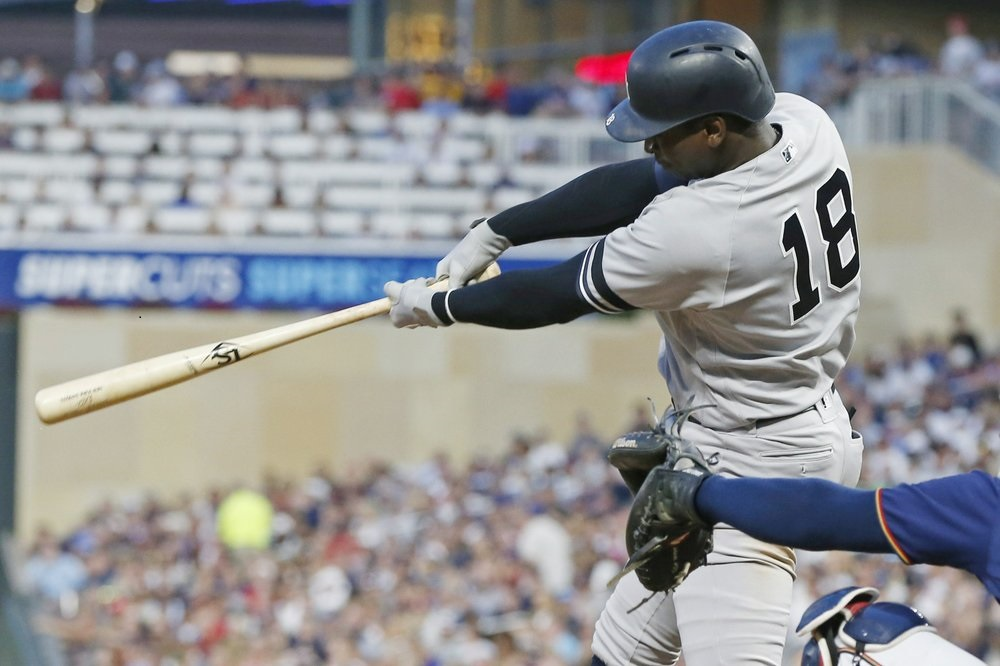 Gregorius leads another Yankee hit parade, over Twins