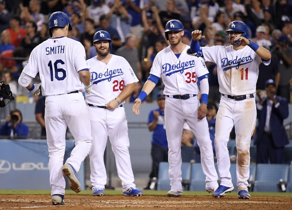 Smith's slam, Kershaw's K's lead Dodgers past Padres