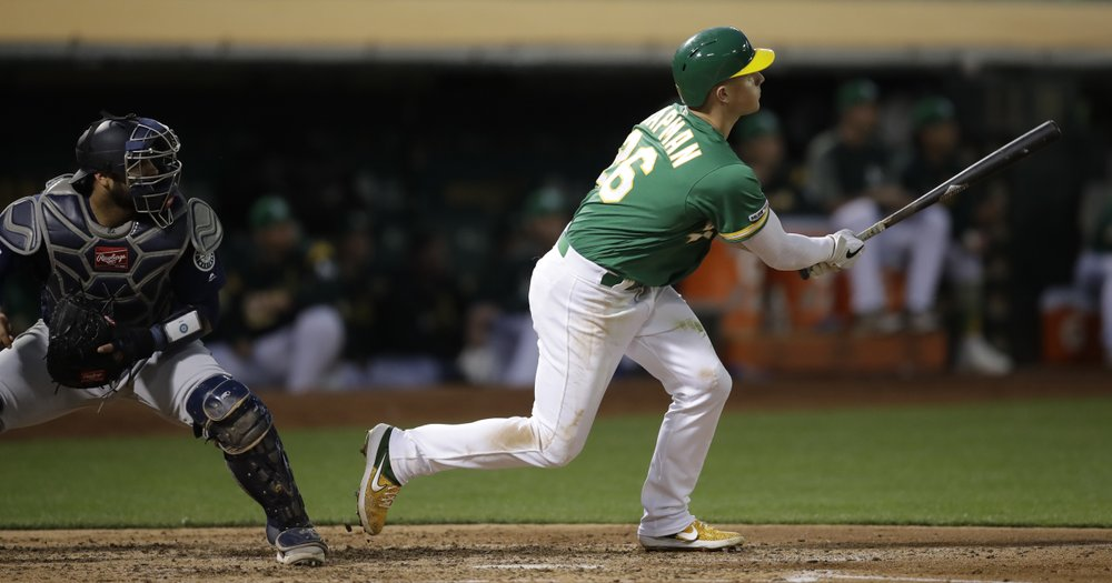 Chapman homers, drives in 5 as A's beat Mariners