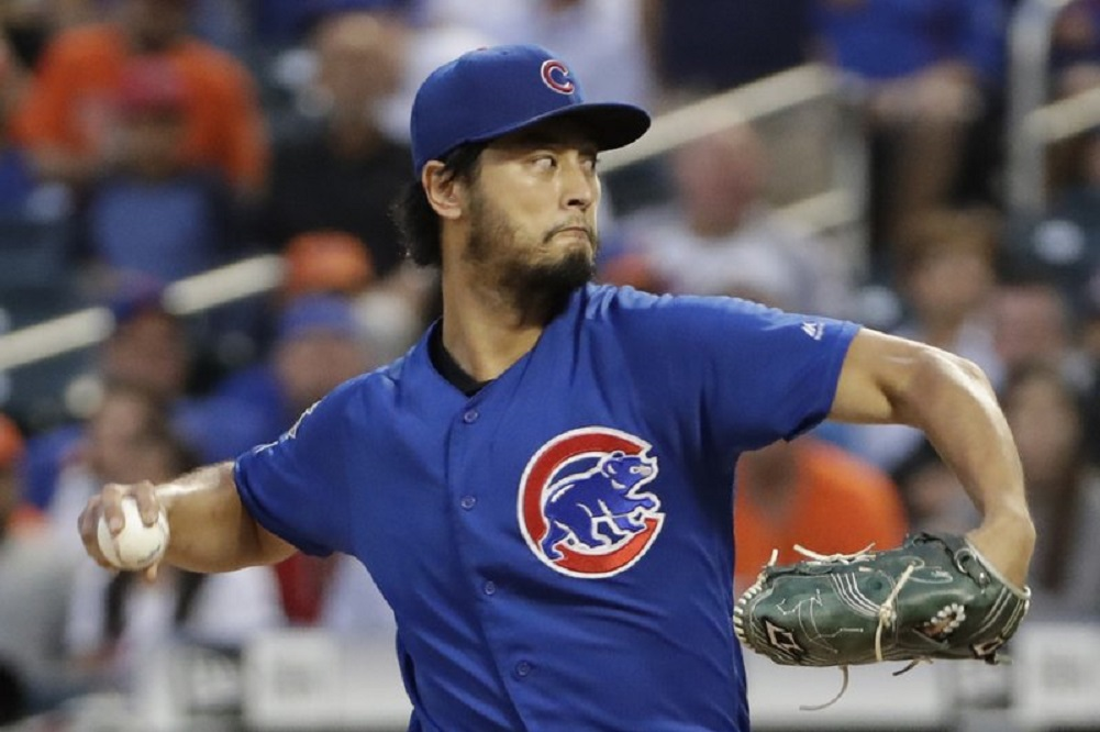 Cubs scratch Darvish with right forearm tightness