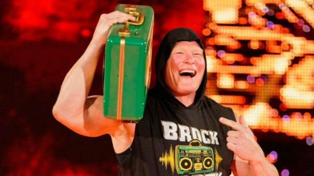 Brock Lesnar cashes in his Money In The Bank contract at RAW