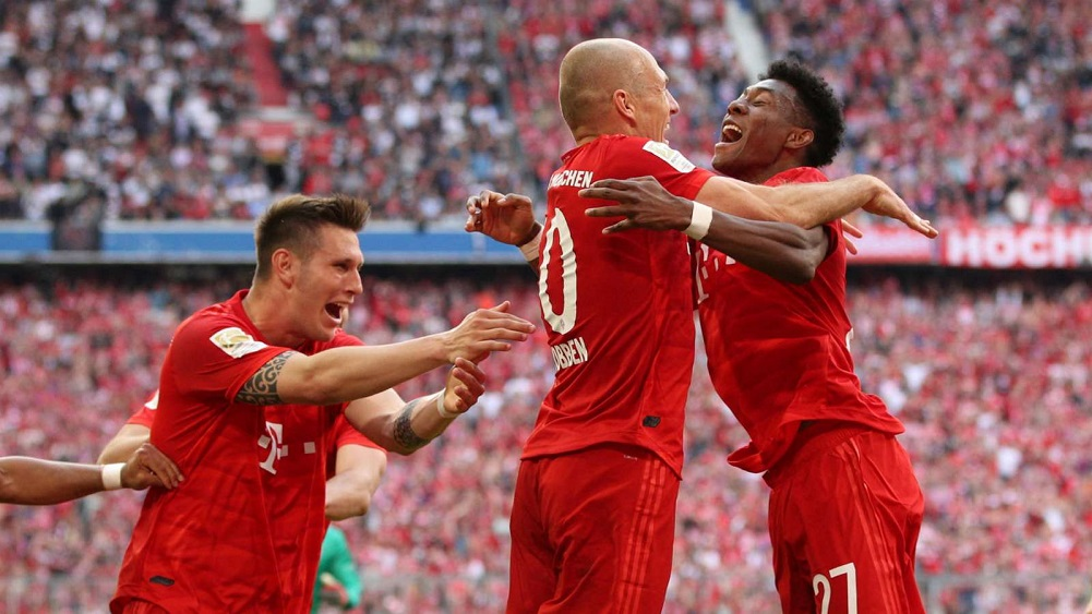 Bayern Munich win seventh consecutive Bundesliga title