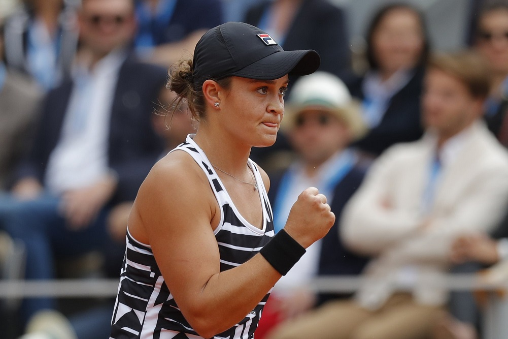 French Open champ Barty up to career-best No. 2 in rankings