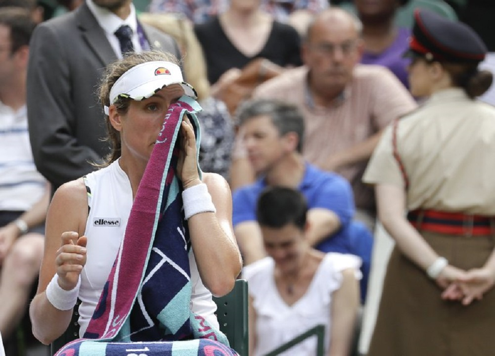 Konta bristles at reporter after Wimbledon loss