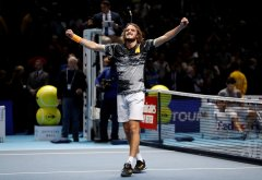 Tsitsipas battles back to beat Thiem for ATP Finals title