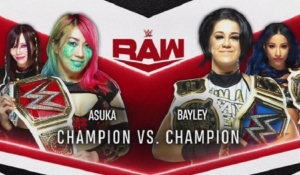 Asuka vs Bayley announced for Monday's WWE Raw