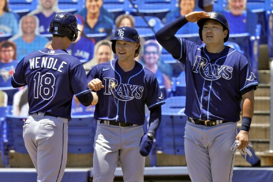 Tampa Bay Rays v Toronto Blue Jays: Rays win 11th in a row, score 7 in 11th to beat Toronto