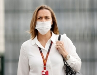 70th Anniversary Grand Prix - Silverstone Circuit, Silverstone, Britain - August 6, 2020 Williams' Racing Deputy Team Principal Claire Williams outside the Silverstone Circuit ahead of the 70th Anniversary Grand Prix.