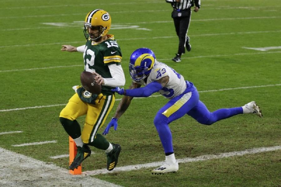 Los Angeles Rams v Green Bay Packers: Rodgers, Packers beat Rams to reach NFC title game
