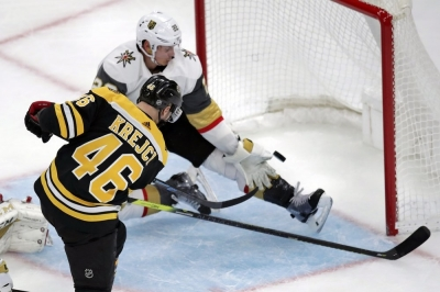 Krejci has goal, assist for Bruins in win over Vegas