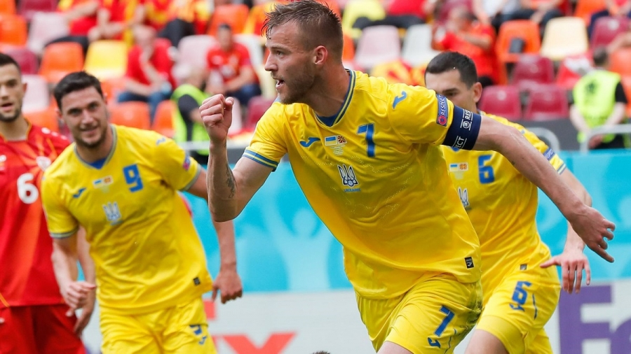 Ukraine v North Macedonia: Andriy Shevchenko's side hold on for first Euro 2020 victory