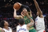 Tatum scores 39, Celtics hold off Clippers in 2OT