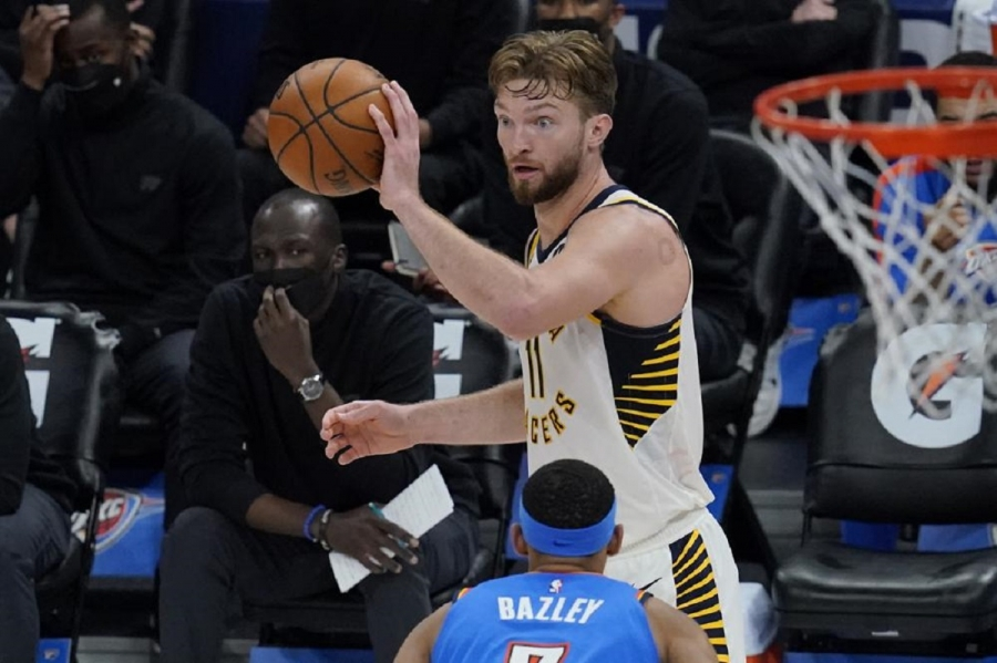 Indiana Pacers v Oklahoma City Thunder: Sabonis has triple-double by half; Pacers top Thunder
