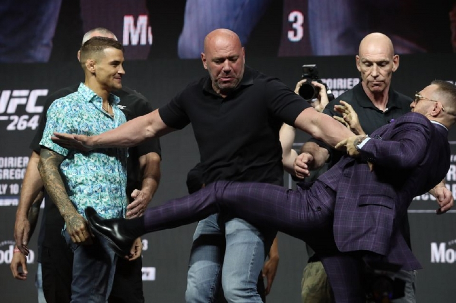 McGregor aiming to get back on track with Poirier trilogy fight
