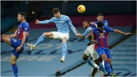 Manchester City v Crystal Palace: Stones at the double as Guardiola's men march into second