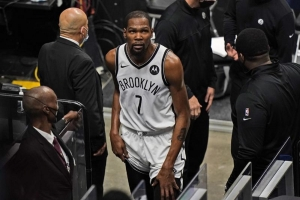 Durant back for Nets after 3-game absence with thigh injury