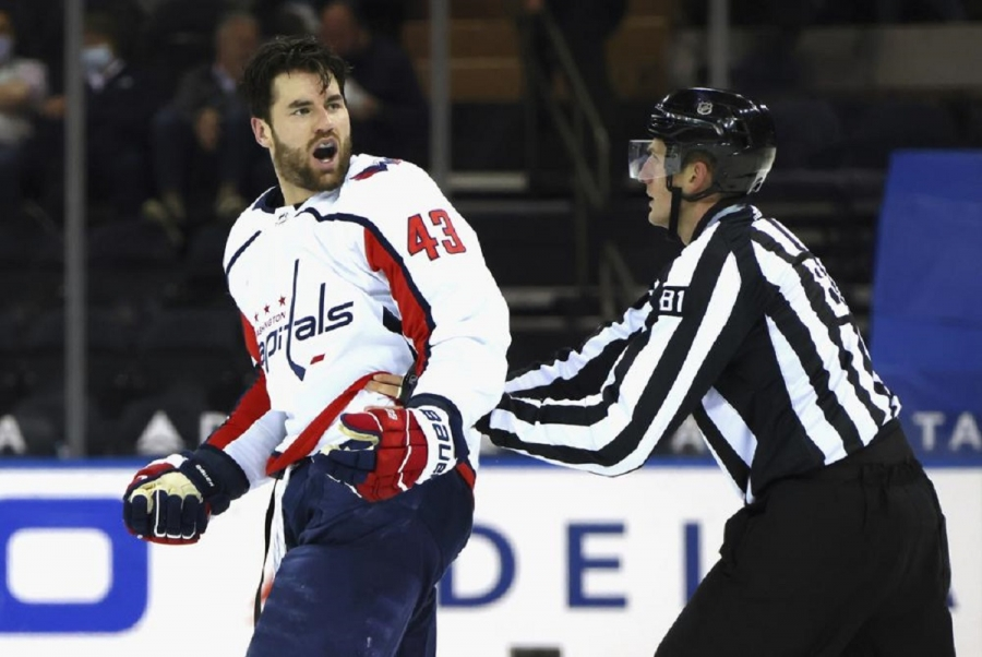 Capitals' Wilson fined K for roughing Rangers' Buchnevich
