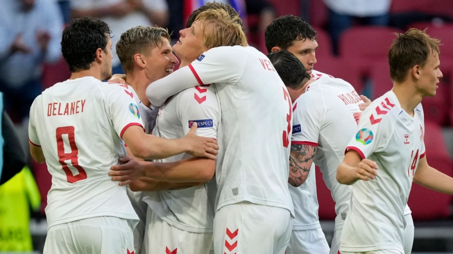Wales v Denmark: Kasper Dolberg scores twice as Rob Page's side exit Euro 2020 and Danes march on