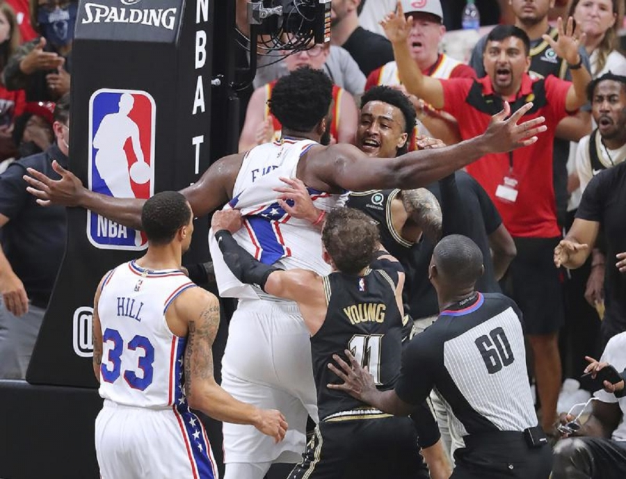 NBA fines 76ers' Embiid ,000 for Game 6 altercation