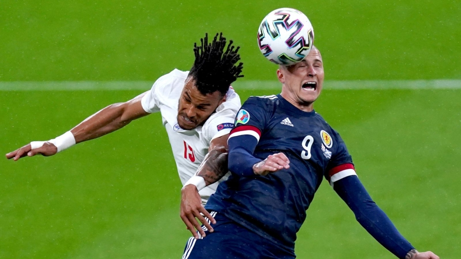 England v Scotland: Lyndon Dykes shot cleared off the line and John Stones denied by woodwork as rivals draw at Wembley