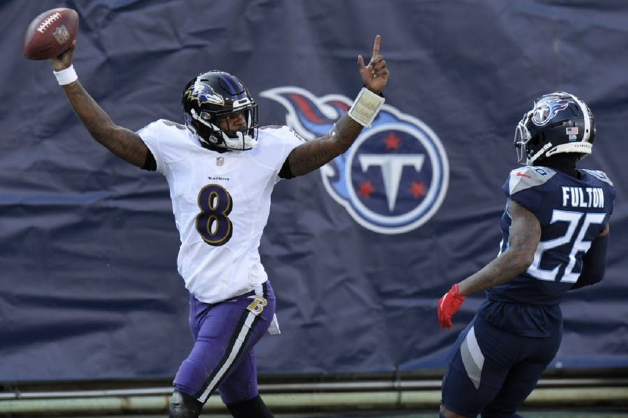 Baltimore Ravens v Tennessee Titans: Lamar winless no more, leads Ravens to win over Titans