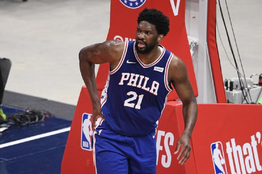 76ers' Embiid to miss Game 5 with meniscus tear in knee