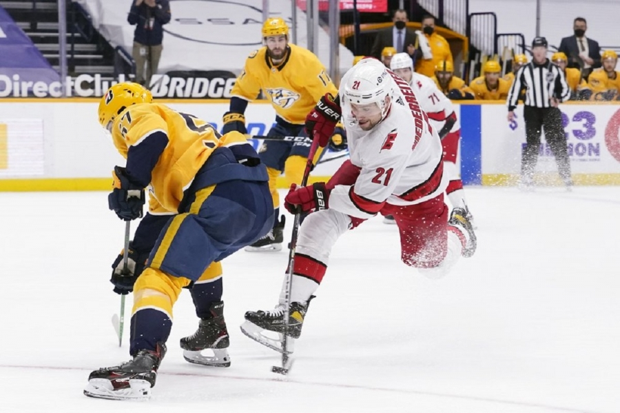 Hurricanes' Niederreiter fined for interfering with Saros