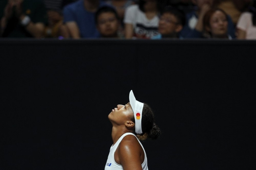 Osaka out of WTA Finals because of injured right shoulder